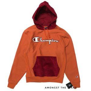 Champion Reverse Weave Corduroy Orange Hoodie